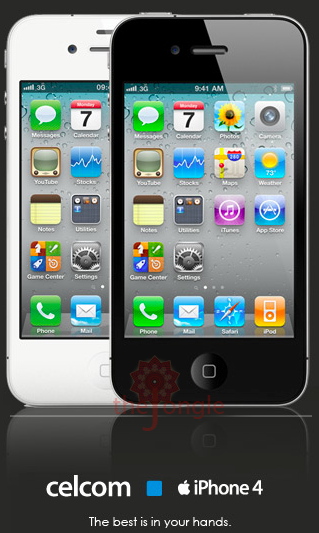 Celcom iPhone 4 White