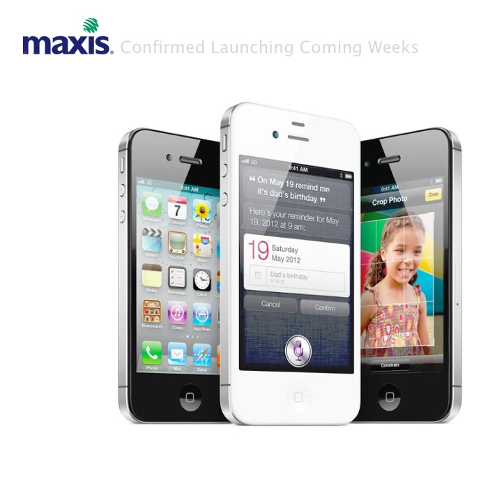 Maxis Malaysia iPhone4S Coming weeks