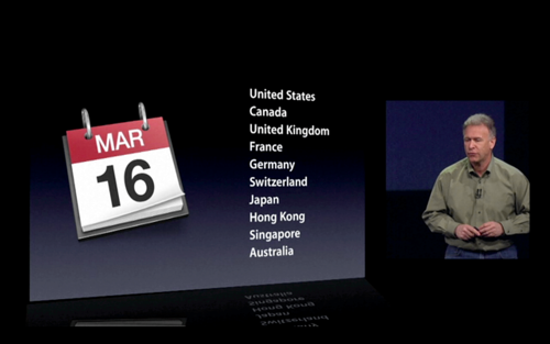 iPad 2012 March 16 Available
