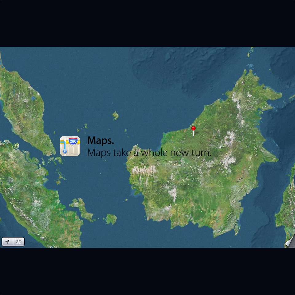 Apple Maps - Sarawak